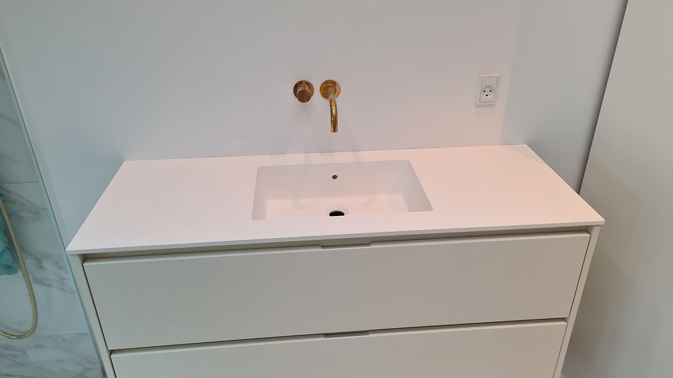 Komplet badvask brina