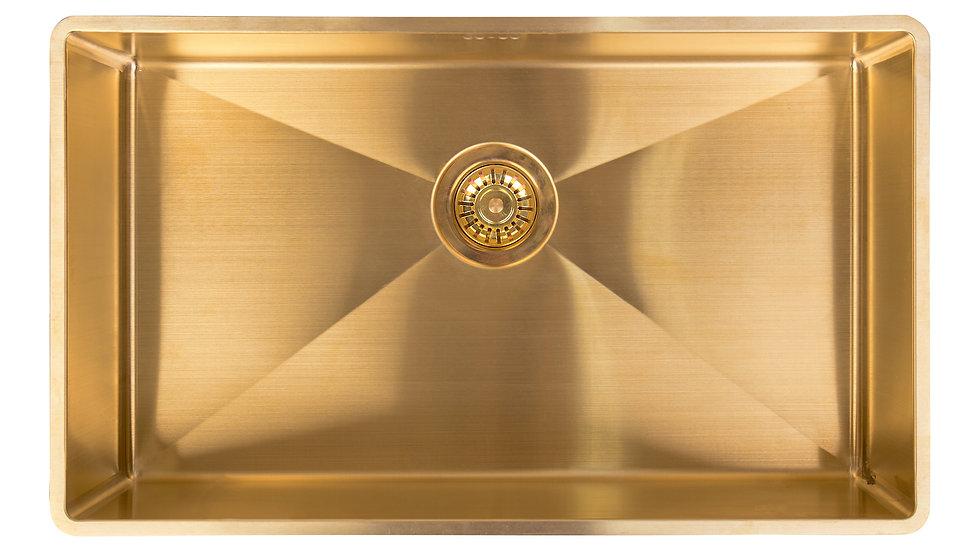 Massiv Messing vask 70x40x18cm