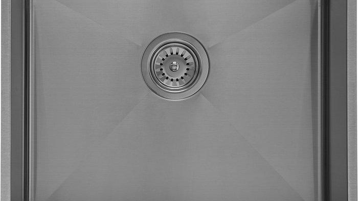 Massiv Stålvask med bundventil 50x40x18cm