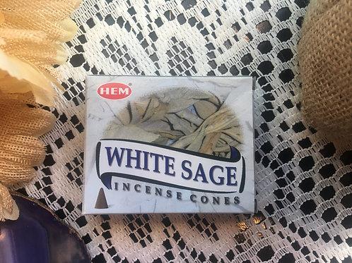 White Sage Incense Cones HEM