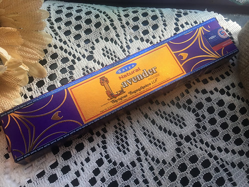 Natural Lavender Satya Incense 15g