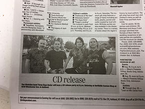 CD Release Newspaper Announcement
