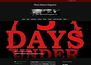 Music Matters Magazine - 3 Days Under Review New Album