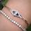 Thumbnail: Platinum and 18 K Yellow Gold Diamond Art Deco Bracelet w/Lab Created Sapphire