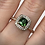 Thumbnail: 14K Rose and White Gold with Vivid Green Tourmaline