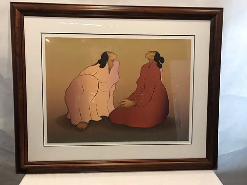 """""""Bosque Redondo,"""" Artist's Proof Signed Color Lithograph by R.C. Gorman"""
