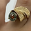 Thumbnail: 14 K Yellow Gold Retro Design Ring with Colored Diamonds