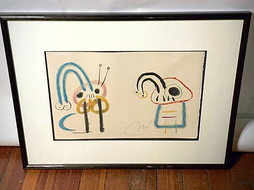 """Joan Miro """"L'Enfance d'Ubu"""" Signed & Numbered Color Lithograph, 1975"""