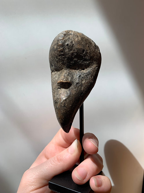 Late 19th- Early 20th Century Carved Wood Tribal Head, #2