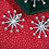 Thumbnail: 18 K White Gold & Diamond Modern Snowflake Earrings