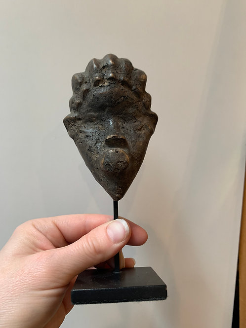 Late 19th- Early 20th Century Carved Wood Tribal Head, #3