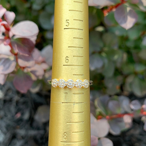 14 K Yellow Gold Diamond Cluster Wedding / Anniversary Band