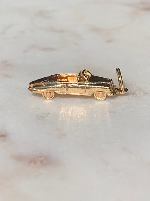 14 K Yellow Gold Convertible Car Charm for Charm Bracelet
