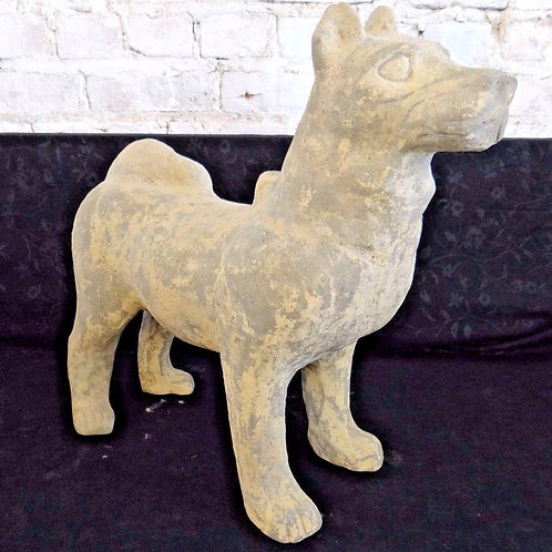 Chinese Terracotta Dog Figure Statue Han Dynasty