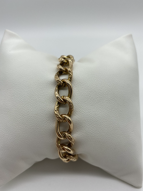 Ladies Yellow Gold Filled Link Charm Bracelet