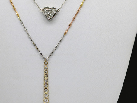 Diamond Stackers, Layered Necklaces