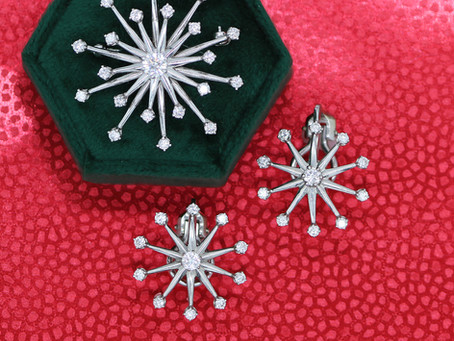 Mid Century Modern Diamond Snowflakes