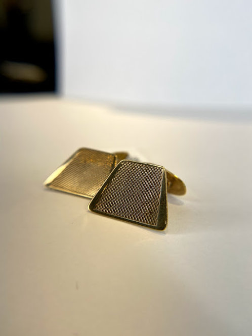 8 K Gold Mid Century Modern Cuff Links
