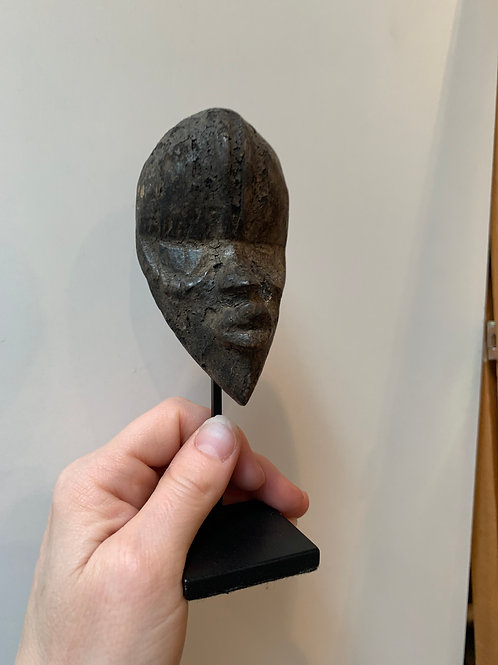 Late 19th- Early 20th Century Carved Wood Tribal Head, #4
