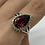 Thumbnail: 14 K Yellow Gold and Red Tourmaline Teardrop Ring with Diamonds