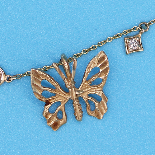 14 K Yellow Gold Butterfly Charm