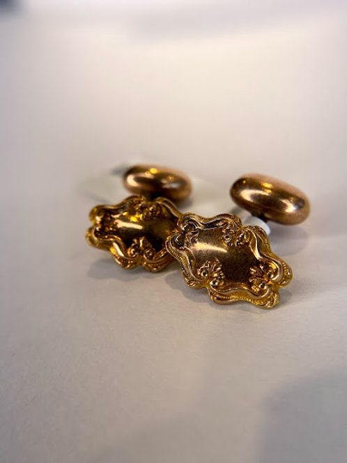 Antique Gold Filled Cuff Links