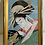 Thumbnail: Meiji Japanese Art Deco Eggshell and Lacquer Painting of Geisha