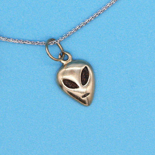 14 K Yellow Gold Roswell Alien Charm