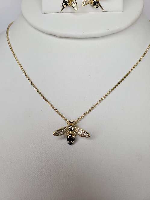 We NEED Bees Gold Plated Sterling Silver Necklace