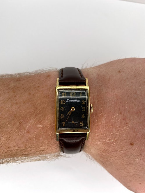 Mens Vintage 14 Karat Gold Hamilton Watch