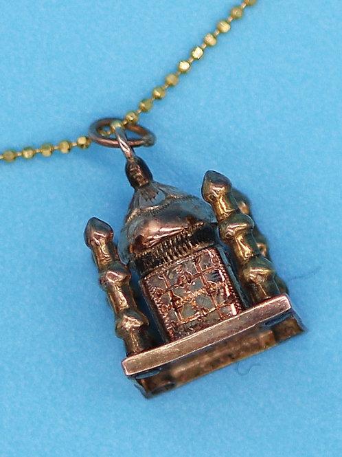 14 K Yellow Gold Taj Mahal Miniature Charm