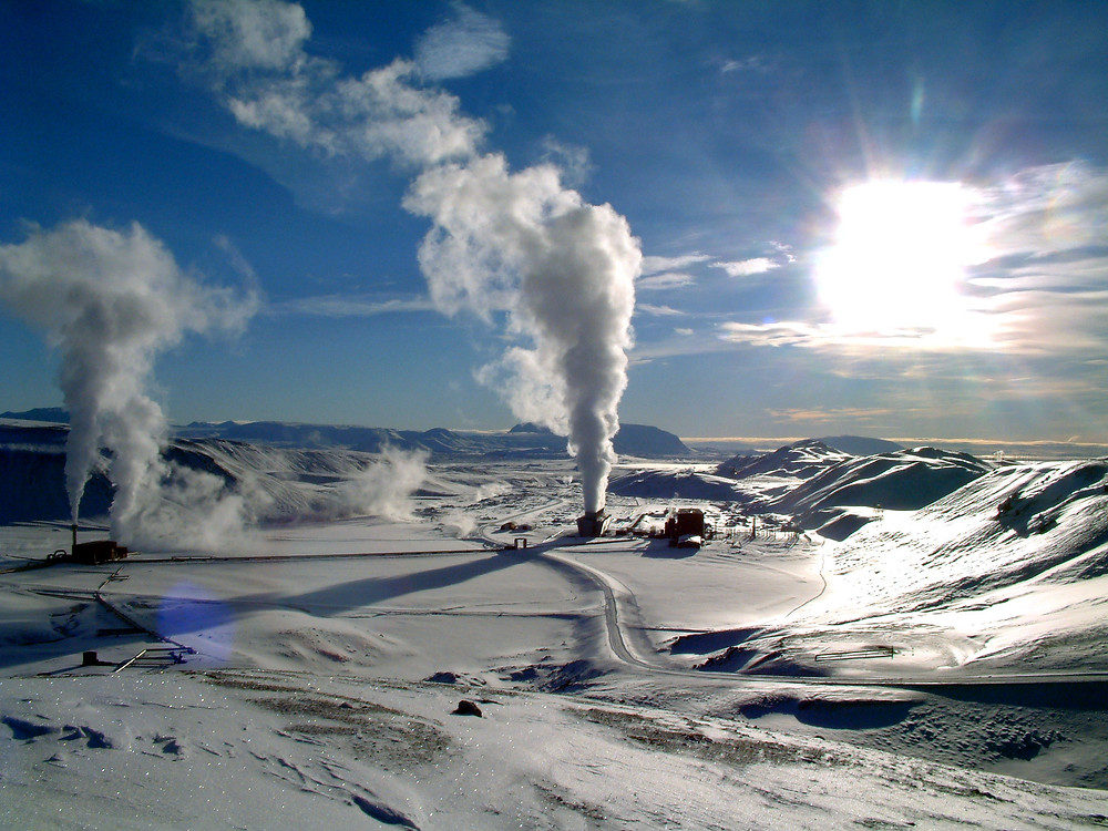 Krafla Geothermal Power Station Iceland
