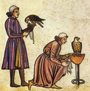 Falconry_Book_of_Frederick_II_1240s_deta