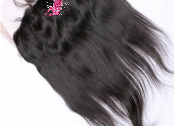 Queen Indian Raw Straight Lace Frontal