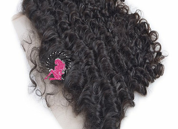 Queen Indian Raw Curly Lace Frontal