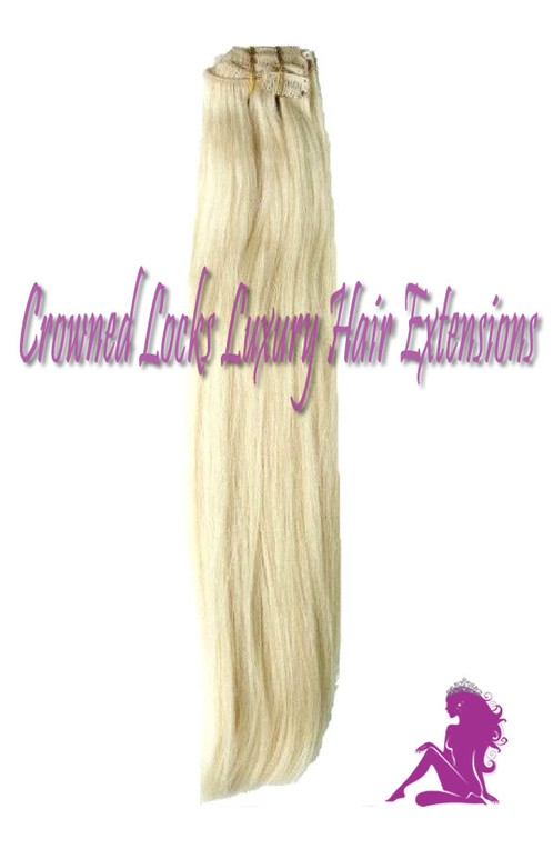 Platinum Blonde Clip In Extensions