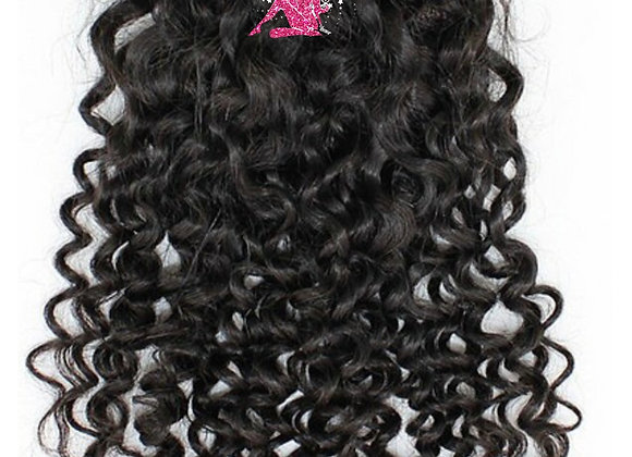 Queen Indian Raw Curly Lace Closure