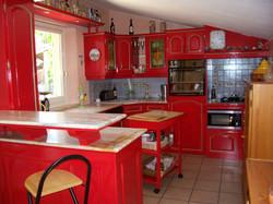Cuisine Rouge et filet vert