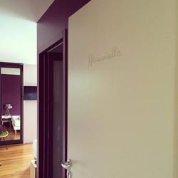 typographie sur portes