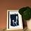 Thumbnail: Cyanotype Fleurs du jardin format A6