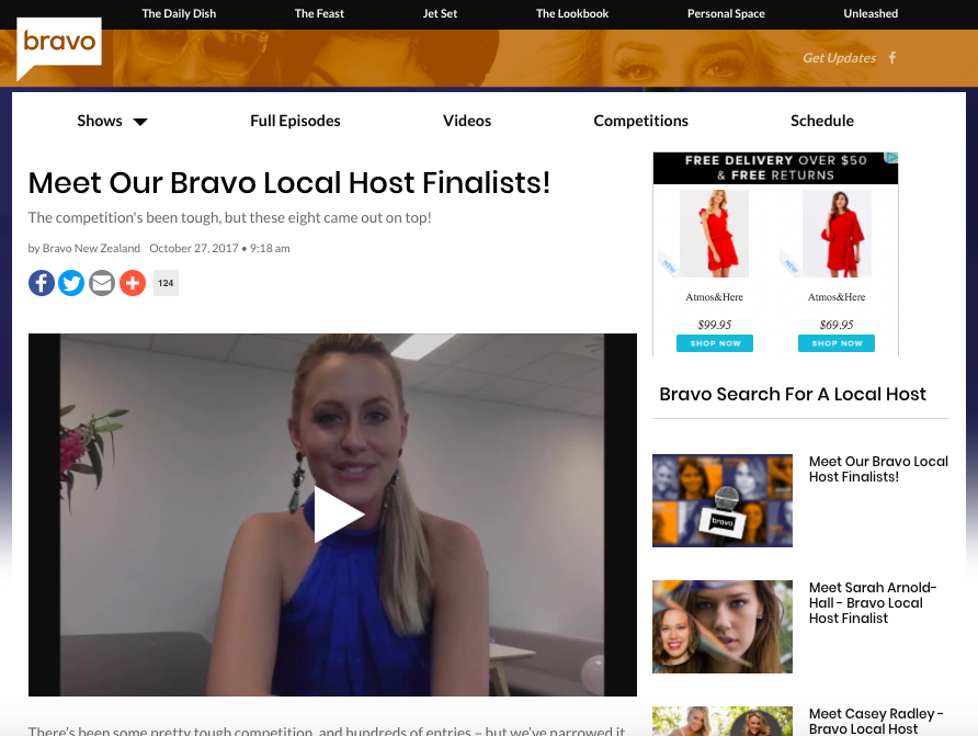 Casey Radley Bravo Host Finalist
