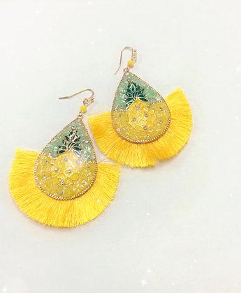 """Pineapple Days"" Earrings"