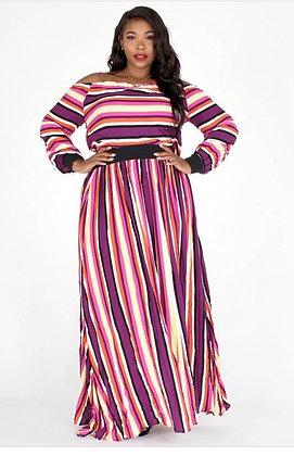 Victoria Maxi Skirt set