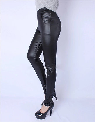 Faux Leather high waist leggins