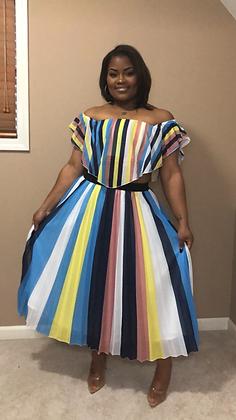 """""""Twirl"""" 2pc Off The Shoulder Skirt Set"""