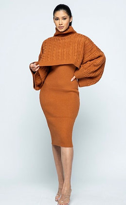 """Renee"" Ribbed knit 2 piece sweater dress"