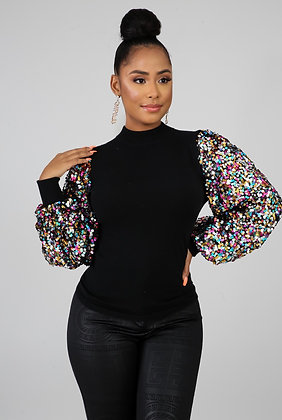 """""""Holiday Vibes"""" Sequin top"""