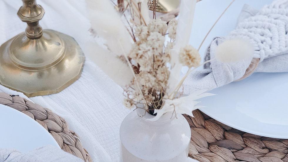 Dried Flowers & Vase