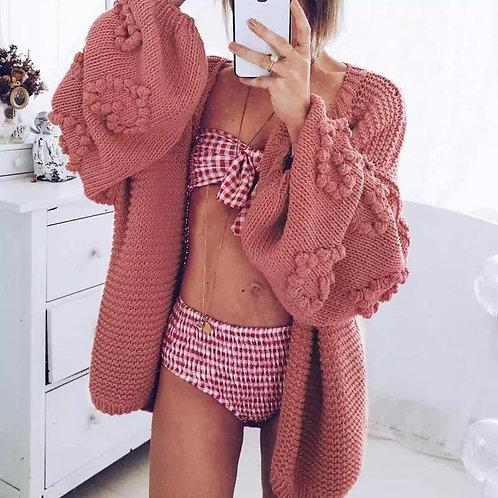 Danny Pompom Knitted Cardigan
