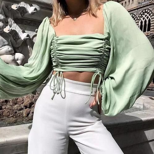 Sharon Lantern Sleeve Top